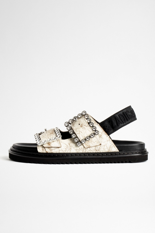 Alpha Grunge Crystal Sandals