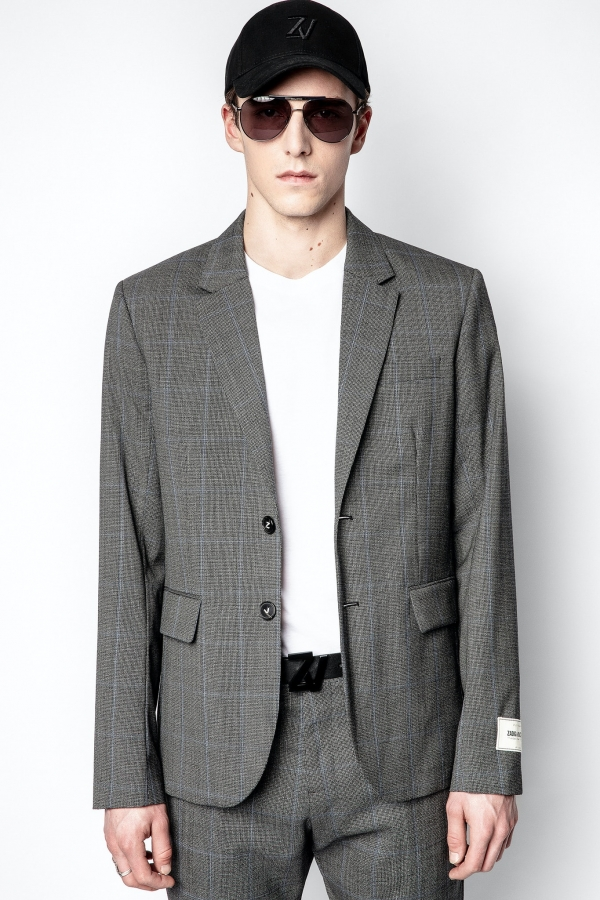 Version Wool Check Jacket