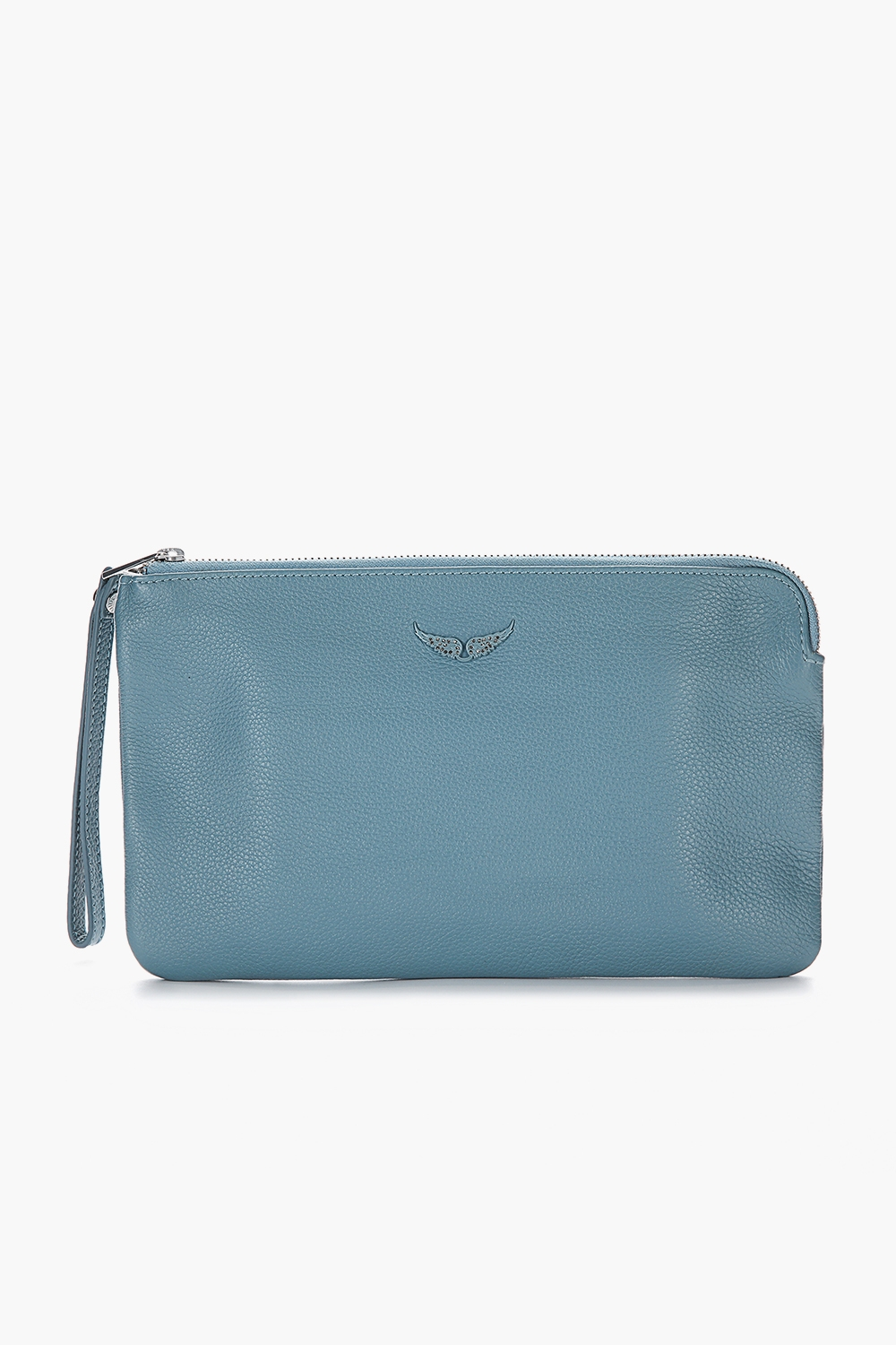 Uma Grained Leather Clutch