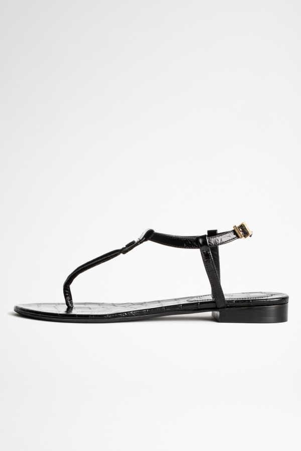 Alessa Embossed Croco Sandals