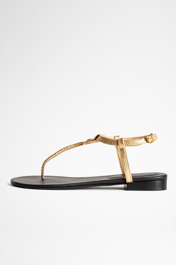 Alessa Metallic Lavs Sandals
