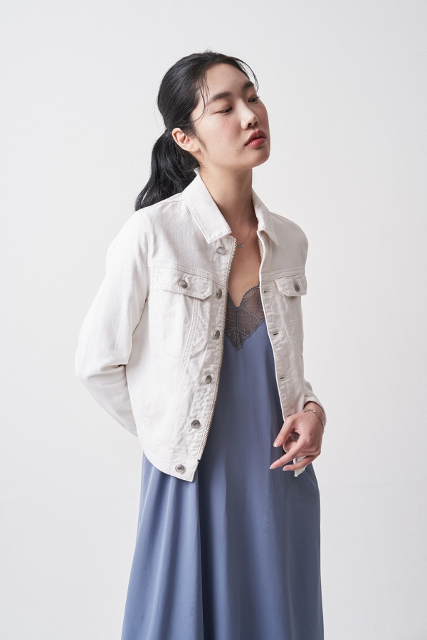 Kioky Denim Blanc Babe Jacket